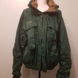 Men's Vintage Columbia Green Rain Jacket